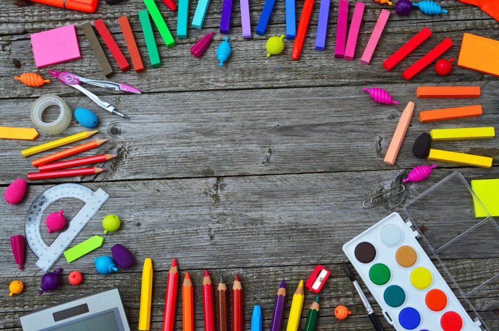 school tools, color, crayon